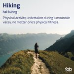 Image for the Tweet beginning: Honest definitions 😜 Mountain lovers