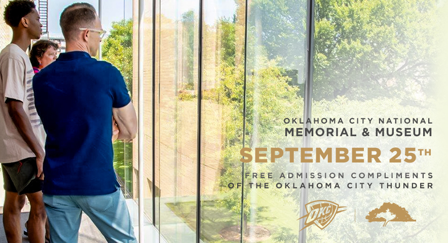 We're proud to partner with the Oklahoma City National Memorial & Museum to further their focus on education, reflection, and healing.  Tomorrow, September 25th admission for all @OKCNM visitors is on us. https://t.co/00RWhXpLyn