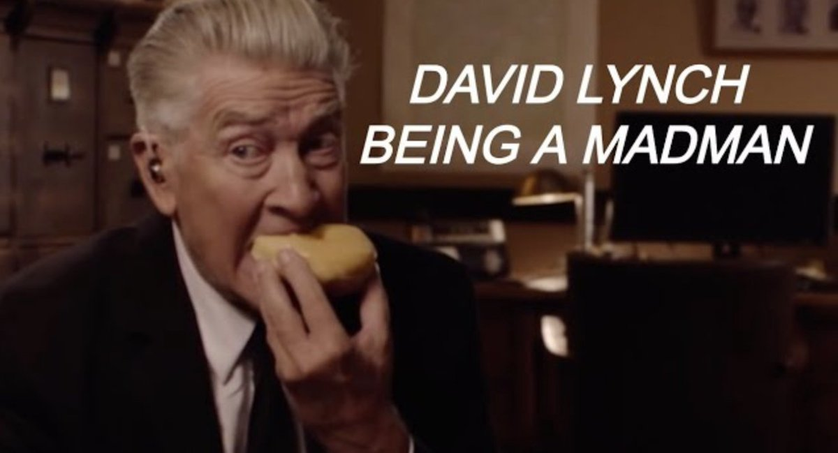 David Lynch Being a Madman for a Relentless 8 Minutes and 30 Seconds   https://t.co/MVLURJoq80 https://t.co/34rPJ3P0ie