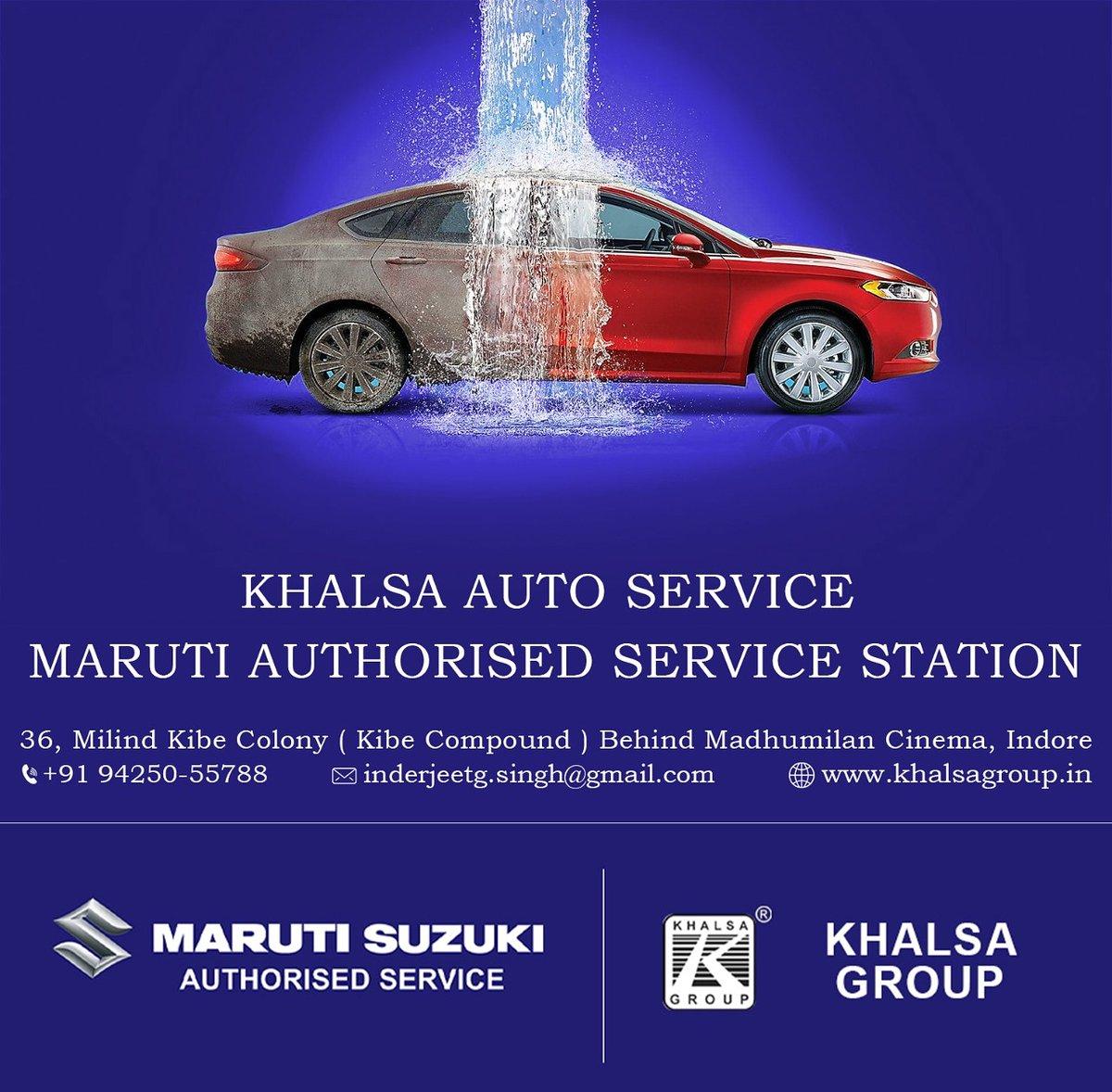 Complete Car Care Maruti Suzuki Authorised Service KHALSA GROUP #Maruti #khalsagroup #MarutiSuzuki  #indore https://t.co/0izgRMJRxx