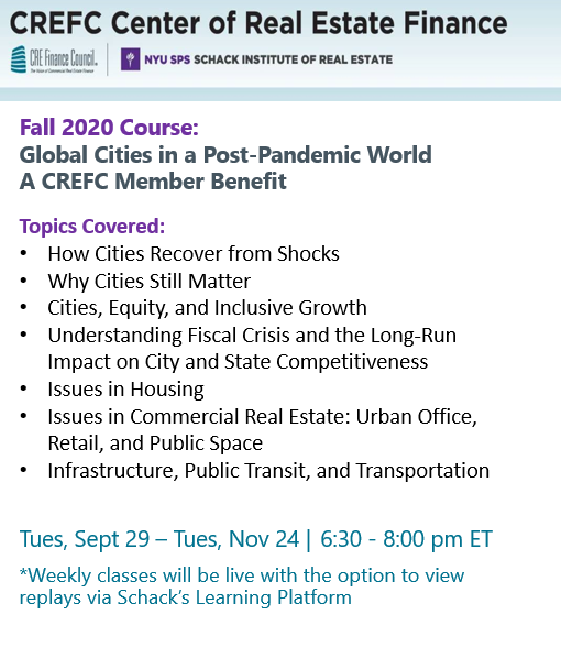 Are you ready for the Post-Pandemic World? This  @NYUSchack can help you prepare. The deadline to register is TOMORROW FRIDAY, 9/25!  Click here to read full details and enroll: https://t.co/V98QrTjM3x  #commercialrealestate #cre #crenews #nyu #pandemicimpact https://t.co/8SuWx8ZhLW
