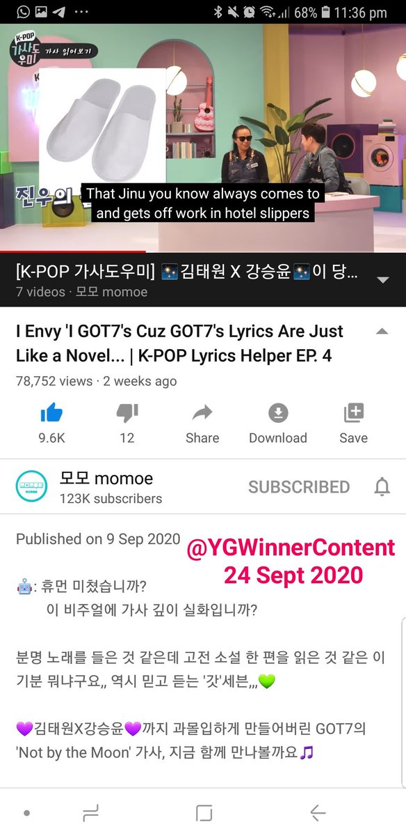 [Streaming Thread] #YOONxKPOPLyricsHelper 🐥💙  24 Sept 2020 11:36PM EP4: Jinu is such a mood :D HIS BIRTHDAY IS COMING SOON!!  #강승윤_KPOP가사도우미 #WINNER #위너 #YOON #강승윤 #SEUNGYOON @official_yoon_ @yginnercircle @morenagirl76 @myseungyoon @WeloveSeungYoon @sailorjinu https://t.co/wBPrRdgpo4