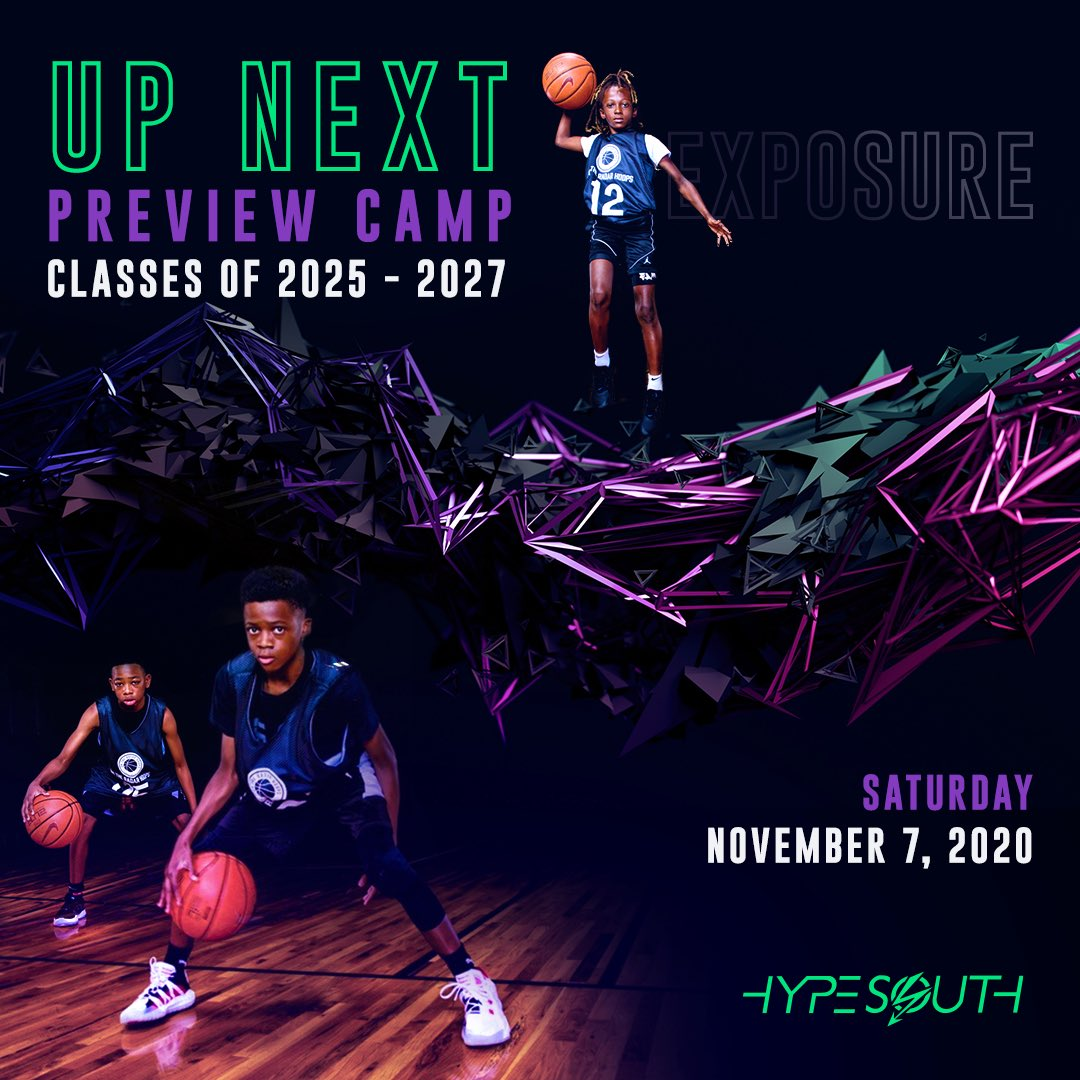 Up Next Preview Camp #UpNextPC  🗓 Saturday - November 7th, 2020 📍Warner Robins, Ga ⛹🏿♂️Middle School Boys (2025-2027)  •Media Coverage •Elite Competition •Video Highlights •Photography  More Info: https://t.co/vjBW5udrFH https://t.co/mG7T85R5P0