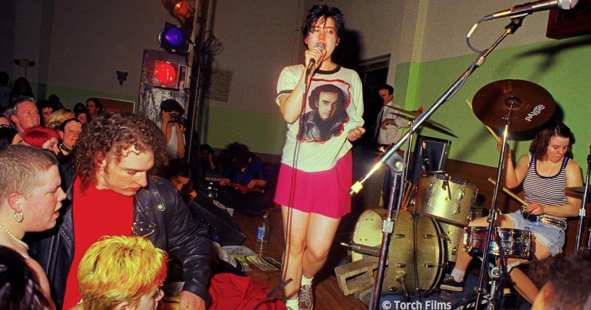 """With it's beginnings in the 1980s, Queercore quickly became a cultural community of LGBTIQ+ music and movie-making revolutionaries. Stream Yony Leyser's documentary """"Queercore: How to Punk a Revolution"""" this weekend only! RSVP: https://t.co/13GHGtHxRz #queerasgermanfolk #qagf https://t.co/XMOKEdOlTc"""