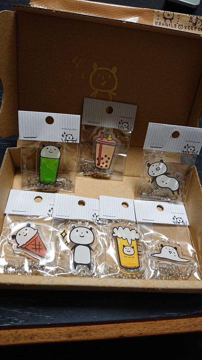 まほめさん(@yuzupanda_mura)のアクキーセット届いた✨箱の中に可愛いがいっぱい🐼 https://t.co/sEy7hTliD9
