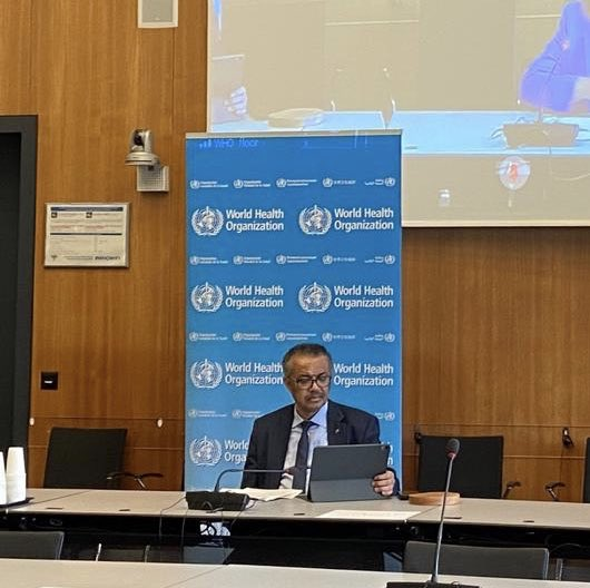 """Strong message from @DrTedros  """"The tragedy is that much of #NCDs suffering is totally preventable.And we know what the answers are:""""  🚭Stop tobacco use  🍺Reduce harmful use of alcohol  🧂Cut salt intake  🧁Consume less sugar  🏃🏽♀️Increase physical activity https://t.co/WvyBI8cXvb"""
