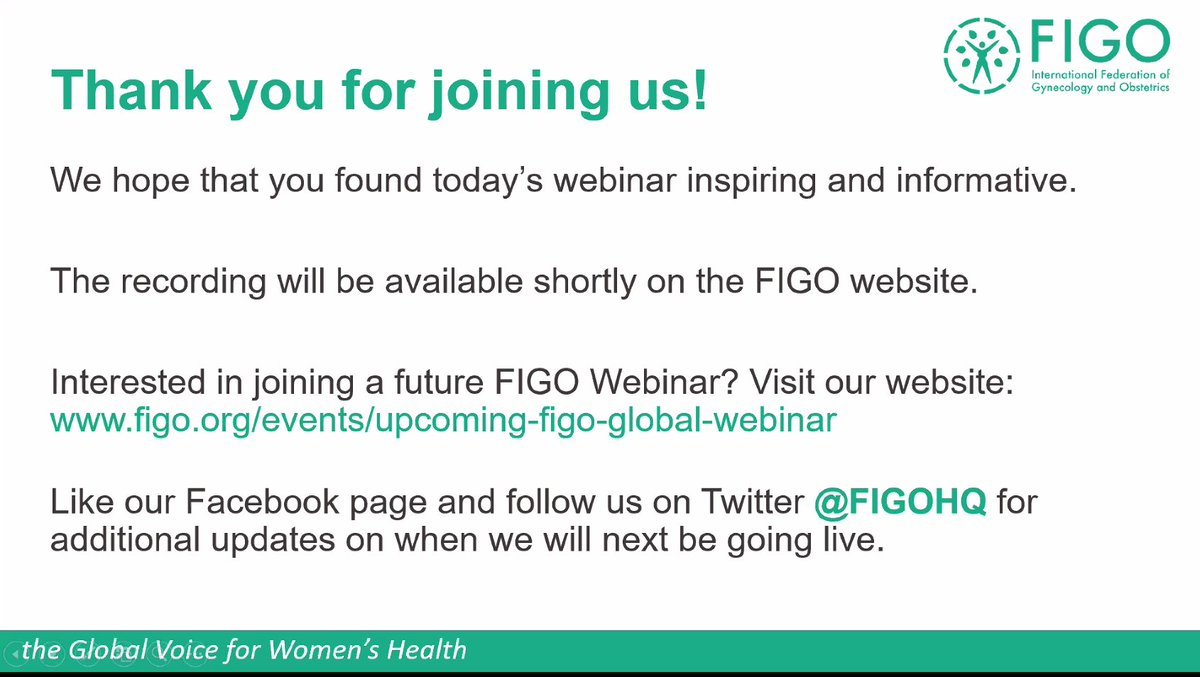 Thank you so much to all our wonderful speakers & attendees at today's informative & insightful #FIGOWebinar.  If you missed it, don't worry! The recording will be available at https://t.co/WT2l9lA22V very soon.   #IManageMyAbortion #womenshealth #SRHR https://t.co/gVttq6iJoF