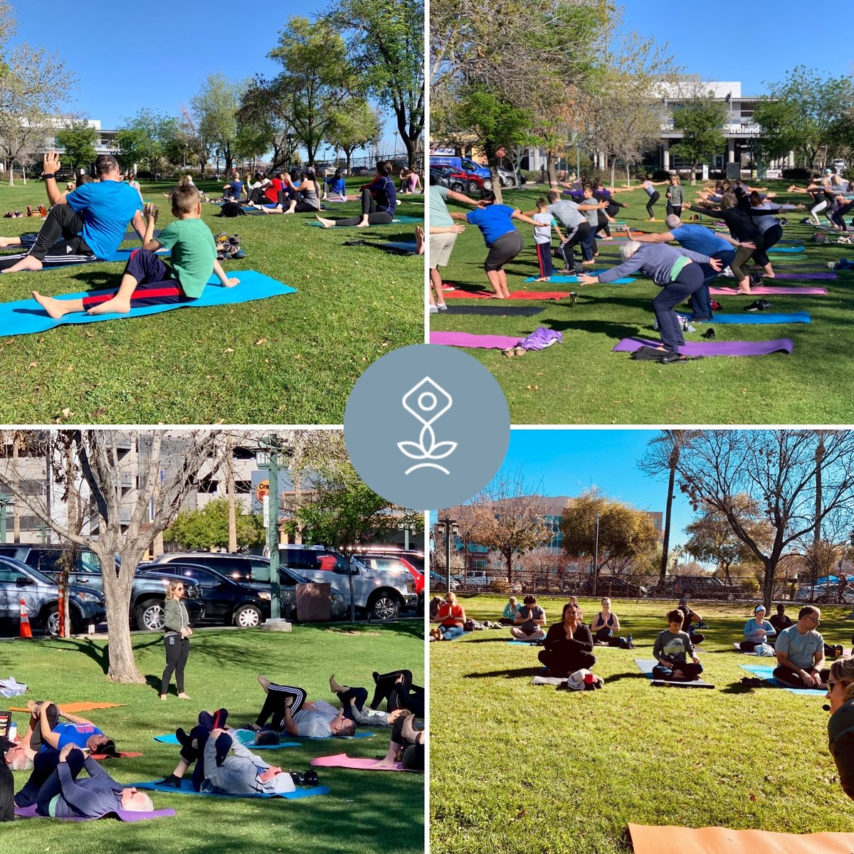 We love our Outdoor Yoga at #DowntownChander Yoga in the Park!    #throwbackeveryday #throwbackmoment #throwbackthurs #throwbackpics #yogasarc  #yogaforeveryoneanywhereanytime  #farmersmarketyoga #farmersmarketfind #outdooryogapractice https://t.co/I8kNg1tYLL