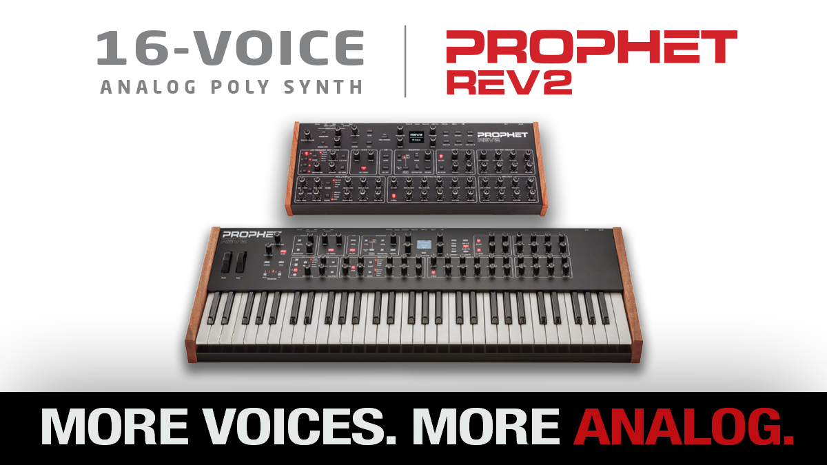 #ProphetRev2 and Rev2 module— 16-Voices of Analog Synth Power! Find your local dealer here: bit.ly/pr2-tw