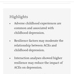 Image for the Tweet beginning: #Youth #ACEs impact dampened by