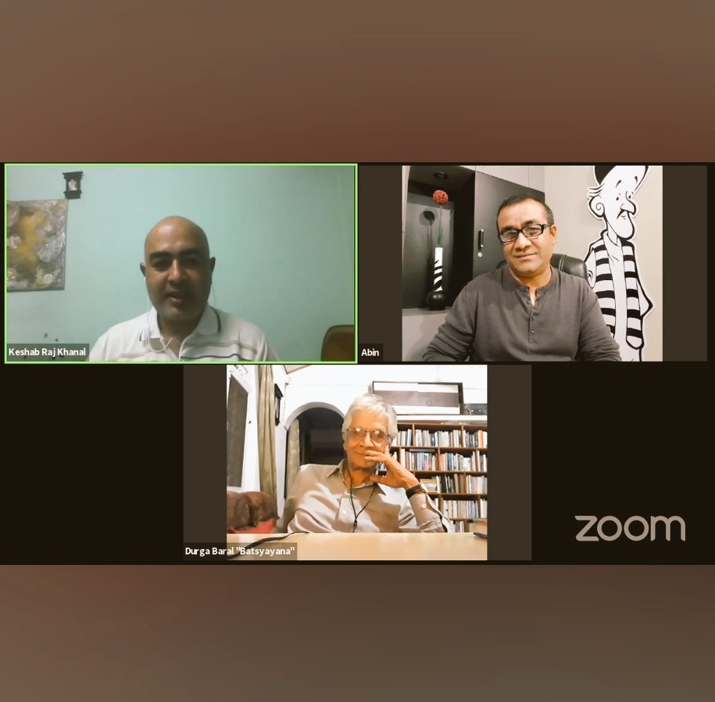 Informative session with  senior cartoonist  @DurgaBaral1 @abinshrestha 🙏 https://t.co/JTNMTUkTXU