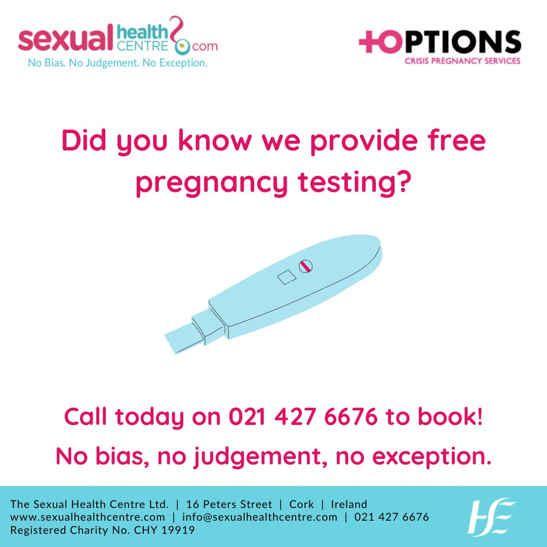 You can book your free pregnancy test or counselling session by phone on 021 427 6676, or by email at info@sexualhealthcentre.com.  #pregancytesting #pregnancytest #pregnancycounselling #crisispregnancy https://t.co/Djmeq9i5aM