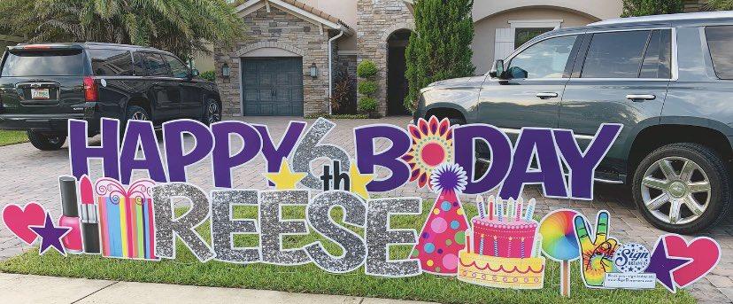 Click the link below to book your sign. https://t.co/HcsOVE8YTh #signdreamersofnorthbrowardandbocaraton #happybirthday #birthday #birthdaygirl #cityofcoralsprings #cityofdeerfieldbeach #parklandgolfandcountryclub #cityofparkland #parkland https://t.co/4mjvOOw56k