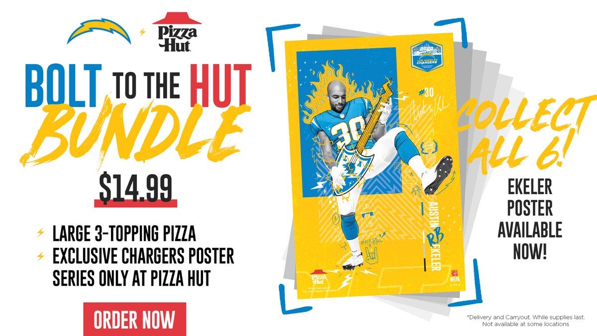 ekeler poster is 🔥 → pizzahut.com/deals