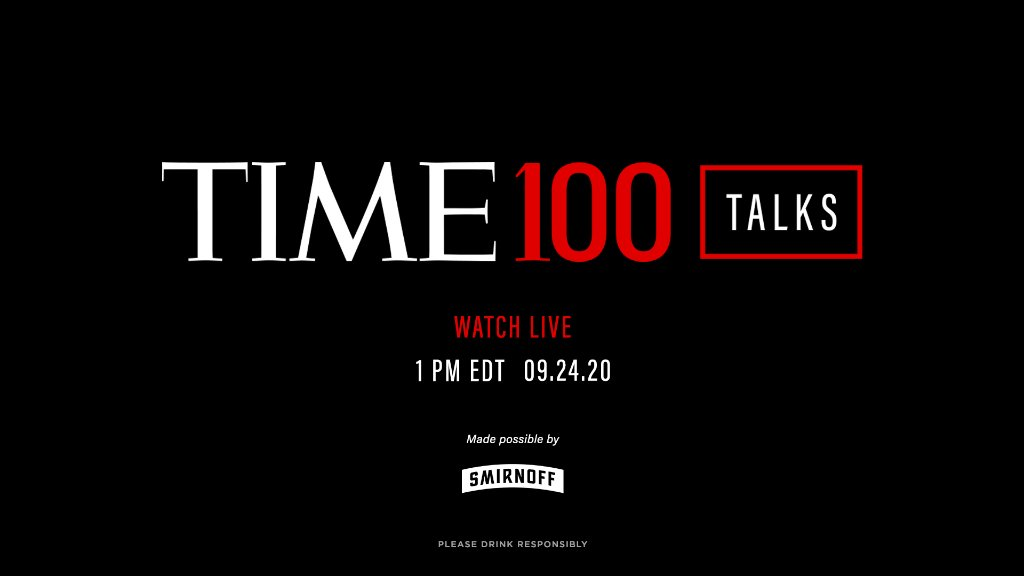 Starting in just 30 minutes, join us for a live TIME100 Talks featuring #TIME100 honorees in conversations about their work, impact, and visions for the future: https://t.co/286OZfimOq  Made possible by Smirnoff. Please drink responsibly https://t.co/FqXa4BDzkG