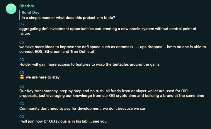 $OCTO 🐙 https://t.co/RLHvOZGbyY 👀  team put together a nice home base for documentation so you can #DYOR & #BTFD 🐙  #defi #oracles #tentacles #dotfi  $LINK $BAND $TRB $DIA $YFI $UNI $ETH $DOT $ATOM $LEND $GHST $MEME $RSR $DAG $GEAR $OCEAN https://t.co/xTGU5IHidl