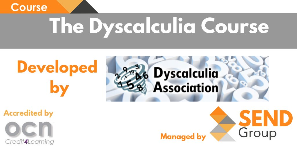 SEND Group is delighted to be working with Professor Steve Chinn and Judy Hornigold, On delivering their Level 3 and Level 5 Dyscalculia and Maths Learning Difficulties course.  Register Here: https://t.co/Xc9VHFyzIz https://t.co/bTYjVJYZw6
