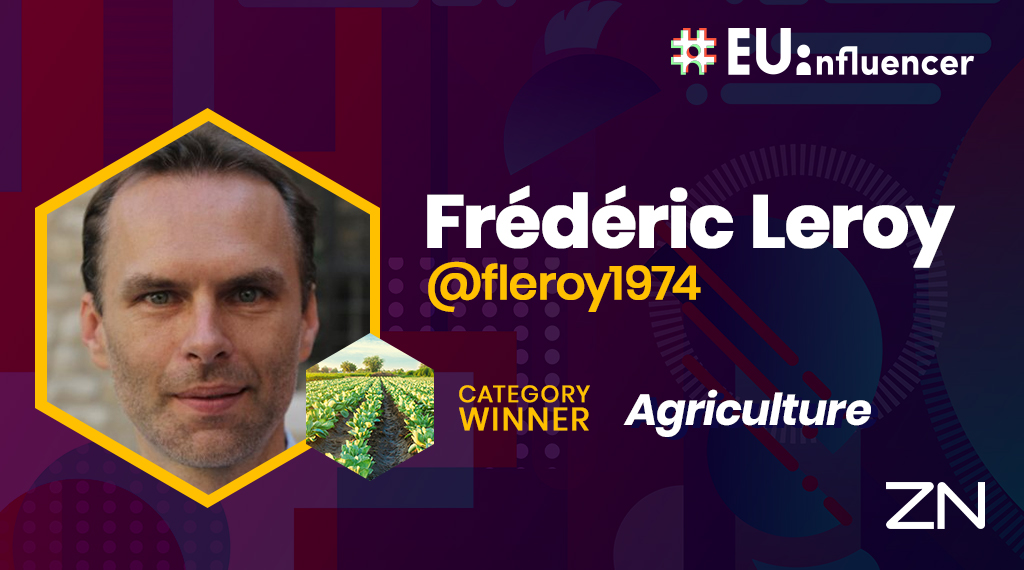 #1 Agriculture #EUinfluencer is @fleroy1974 🏆 Frédéric Leroy is a professor at @VUBrussel. Over the course of his career, he has conducted research around Food Sciences and has published various articles about nutrition and food microbiology. Congratulations! https://t.co/zv7Za426Fo