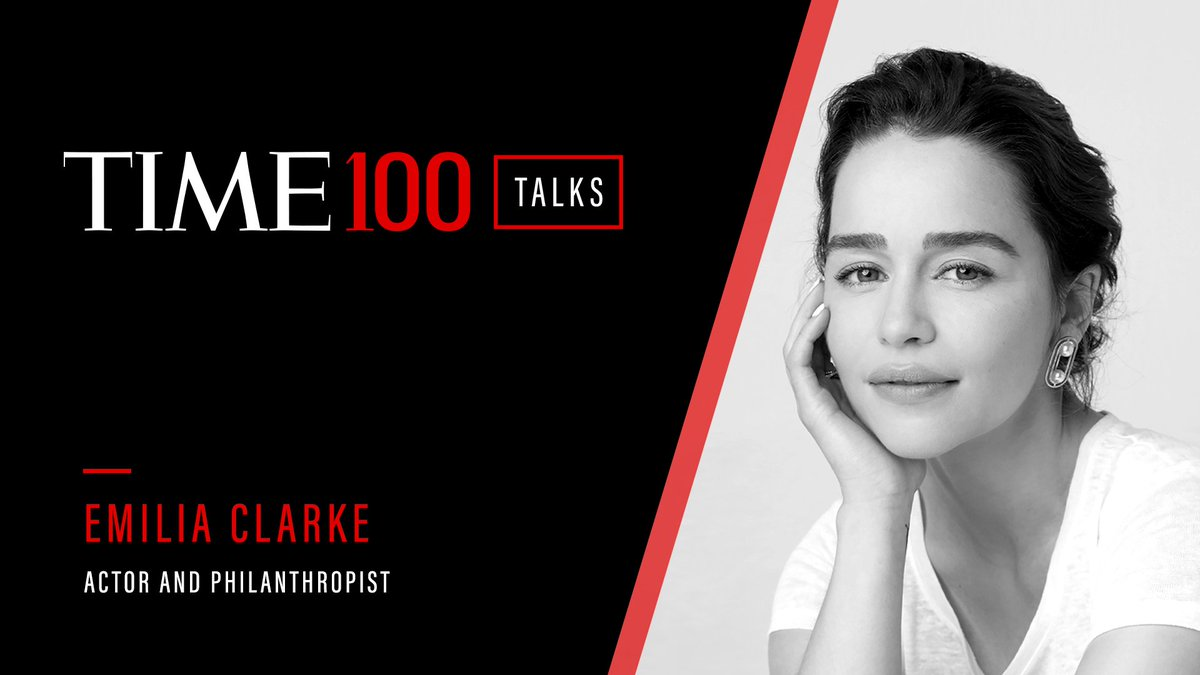 For today's #TIME100Talks, I catch up with the incredible @emiliaclarke to talk recovery, empathy, representation and hope. Plus, a special performance and conversation with @ozuna (!), @LewisHamilton checks in, and more! https://t.co/hr93olkhVU #TIME100 https://t.co/RAOKiAjkm2