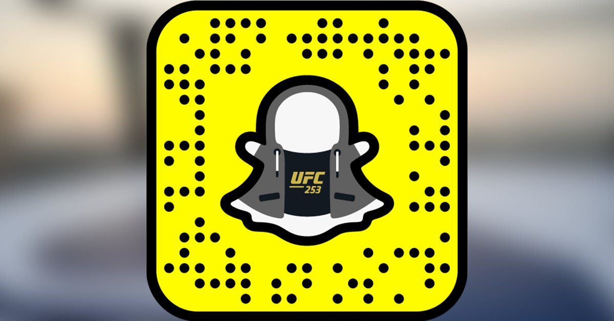 LIVE on @Snapchat 🏝  Use the code below to unlock a special #UFC253 filter.  [ #InAbuDhabi | @VisitAbuDhabi ] https://t.co/emzyEWlmxX