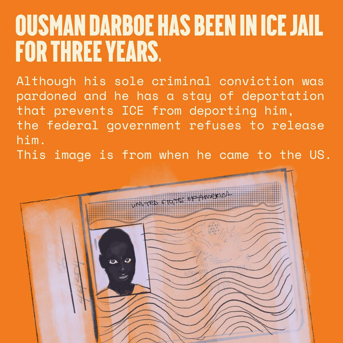 UPDATE—Because of your overwhelming support we're SO close to 🔥8000🔥 names to #FreeOusman! 😱  RT & add your name so we can make our goal of 10K & show the court Ousman's community needs him home!  Join us @freedomtothrive @BAJItweet @BronxDefenders ➡️ https://t.co/gdnMx3uYMx https://t.co/kaR4OwxcGf
