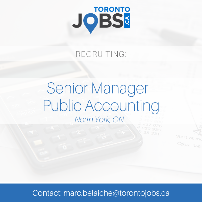 #JobAlert | https://t.co/jSQAqgm82a is currently recruiting for a Senior Manager for a CPA firm in North York.   To learn more or to apply: https://t.co/ZeE7w7hy1A.     #accounting #audit #reviews #NTR #caseware #toronto https://t.co/mKSBHC835X