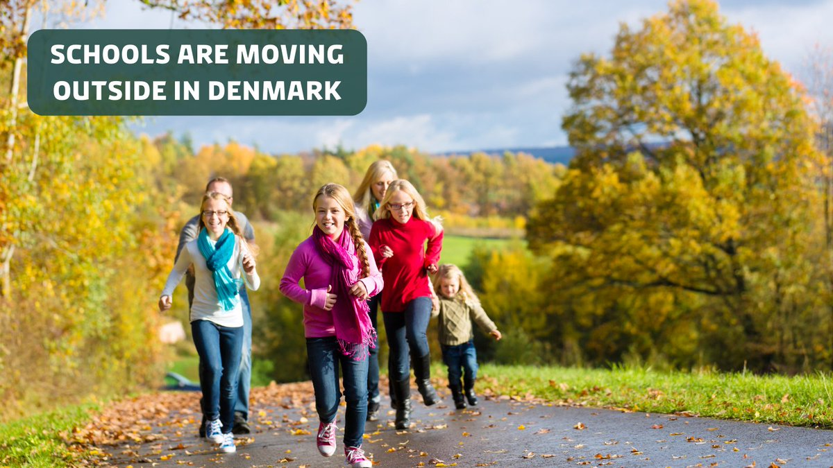 Schools are moving outside in Denmark!🌳  Due to the coronavirus, many 🇩🇰 schools have started to embrace the idea of outdoor schooling, which research suggests have several benefits - including better health! Read more: https://t.co/yV5L0McAQe #DenmarkinUSA #covid19dk https://t.co/Dg2l8ZjB5j