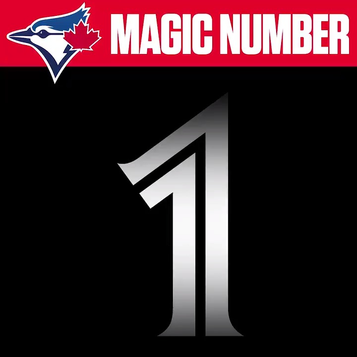 The #BlueJays magic number is down to ☝️!