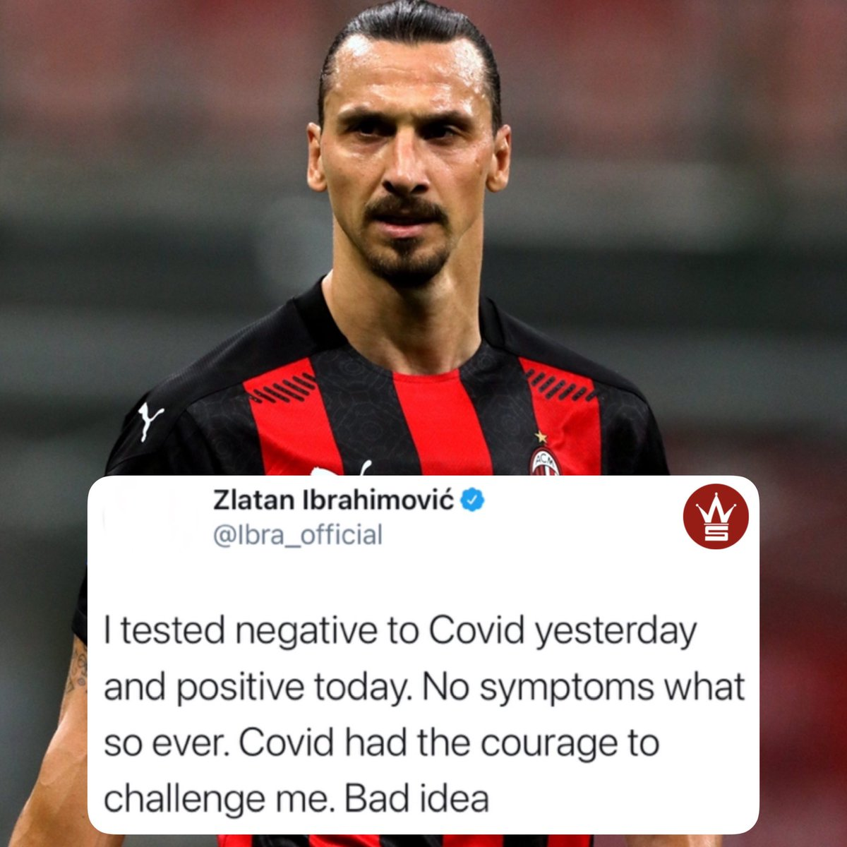 #ZlatanIbrahimovic had this to say in regards to testing positive for #Covid19. We wish him a speedy recovery. 🙏 @Ibra_official https://t.co/LdT2gCqaSS