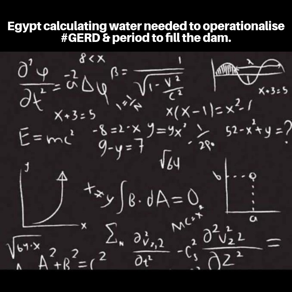 As Africa #RiseLikeTheGERD, #Egypt is struggling & having headache on how to frustrate #GERD. Let it known to all & sundry that GERD is unstoppable. No amount of irrelevant calculations from busy bodies will stop the dam. #Kenya supports GERD. #itsourdam https://t.co/Ms14D3oNMH