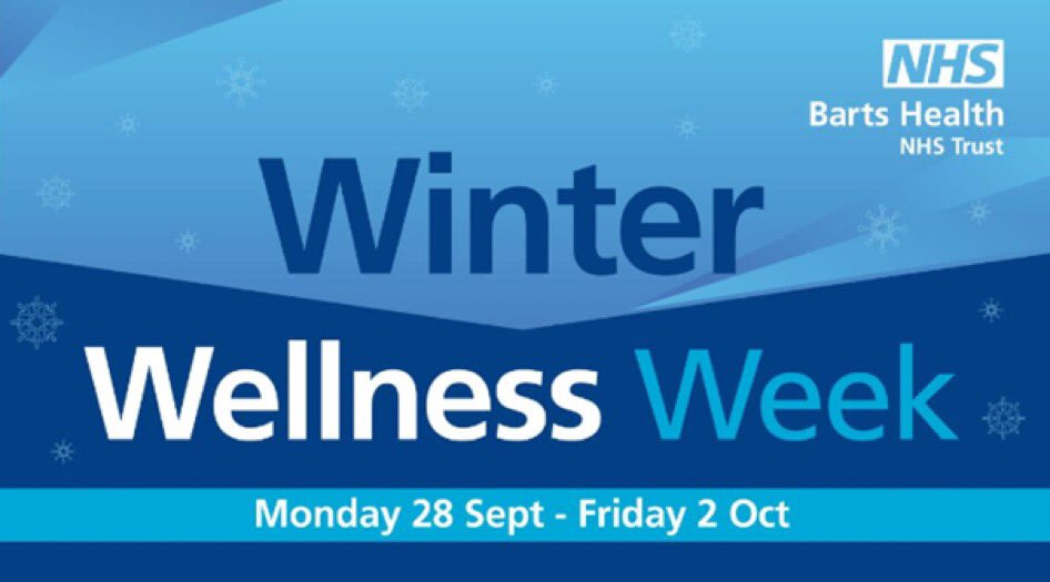 Looking forward to this! Encouraging all #teambarts to take part as we look after our own health & well being & prepare ourselves for winter. Look out for more information & ways to get involved @NHSBartsHealth @CAlexanderNHS @ChesserAlistair 🤗 https://t.co/6EGHo8BW64