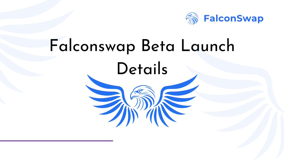 🔥FalconSwap Beta Testing update🔥  FalconSwap will be rolling out private beta testing to selected people before the public beta launch.  🔹Top 50 wallet holders 🔹Private beta testers(selected by team)  Beta testing start time will be announced through our official announcement https://t.co/IIsJBp4xLI
