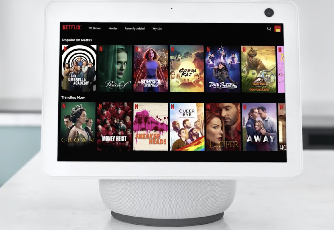 Amazon's Echo Show 10 adds Netflix to its services