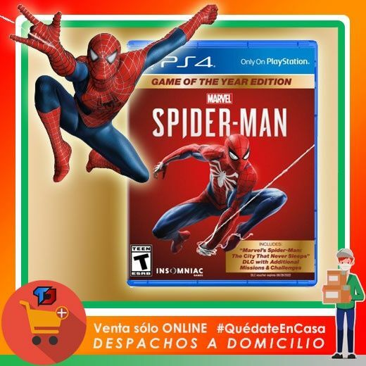 Continuan los Precios Locos Spiderman Game Of The Year Edition Para PLAYSTATION 4 $ 20.000 Despacho a Domicilio Santiago y Regiones … https://t.co/pgpTUDmJjc https://t.co/wlM0fpHry8