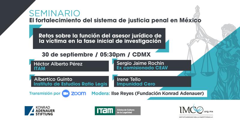 """[SEGUNDA] #MesaDeDiscusión""""Retos sobre la función del asesor jurídico de la víctima en la fase inicial de investigación"""".   🗓  30 de septiembre 🕦 17:30 h. 🎥 Zoom ✍️Registro: https://t.co/qoCj22TIZg  ¡Los esperamos!  #KASMéxico 🇩🇪🤝🇲🇽 #JusticiaPenal https://t.co/g76T18splA"""