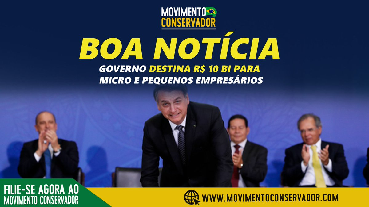 O governo Jair Bolsonaro liberou R$ 10 bilhões para a concessão de empréstimos para microempreendedores individuais (MEIs). #bolsonaro #economia #mei #brasil   https://t.co/QppekQZ7uO https://t.co/HzuR2lbXbU