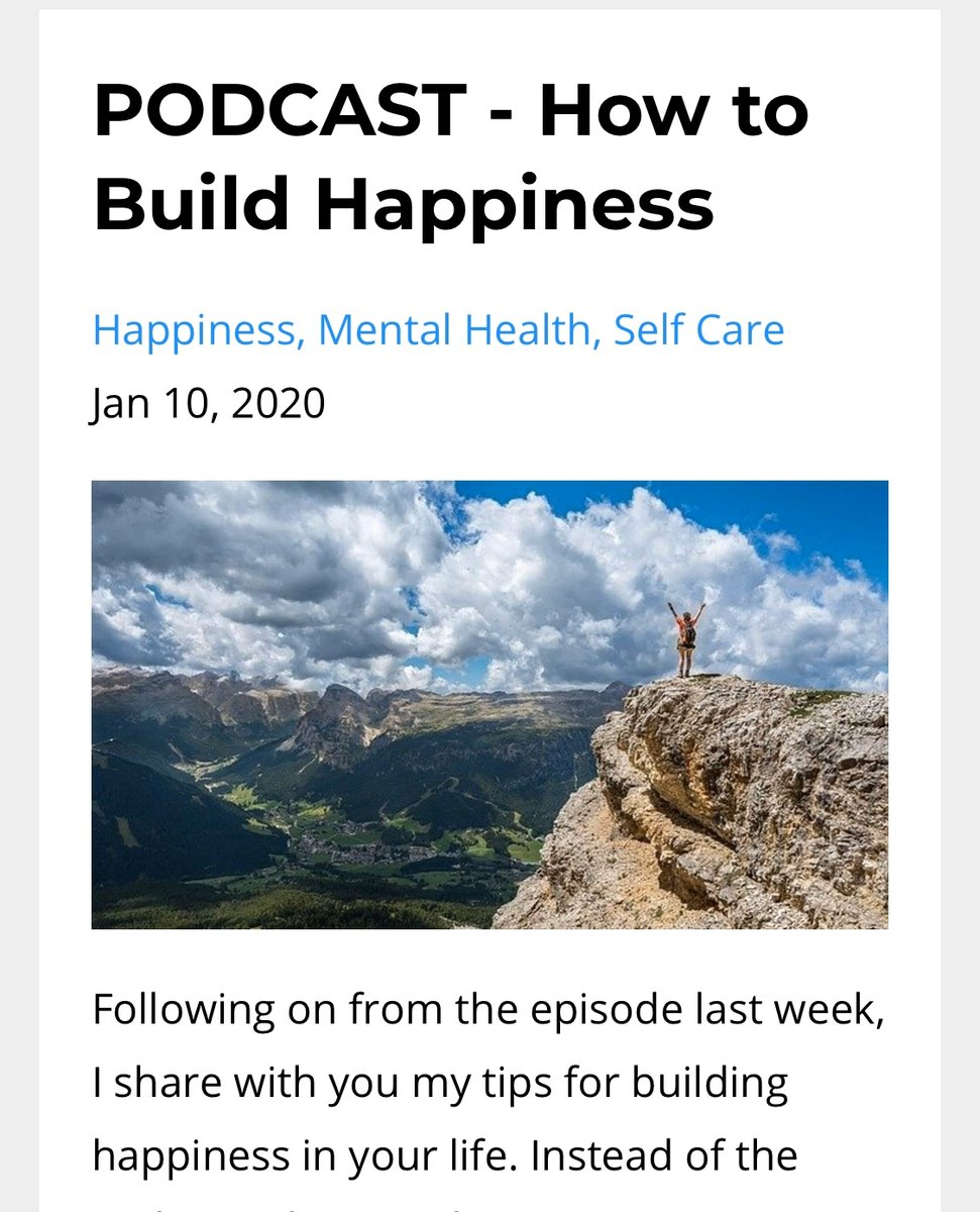 The tips are small and easy to implement and are a great way to start building happiness today!  https://t.co/UhrTLMaY90  #happiness #Happinessishere #happinessis #happinessisachoice #HappinessEverywhere #happinesss #happinessiskey https://t.co/cVjkLBv9gC
