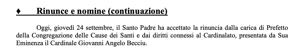 Wow. Becciu was one of Francis's leading advisers, already deeply implicated in corruption when the Pope disgracefully made him a cardinal. https://t.co/rbOWwHuQUj