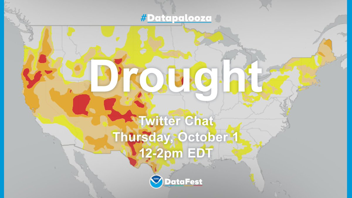 Thank you for joining us for this weeks #Datapalooza Twitter Chat about fire weather. Next weeks chat will focus on #drought. Again, we will have @NOAA experts available to answer questions and discuss. See you next Thursday at noon (ET)!
