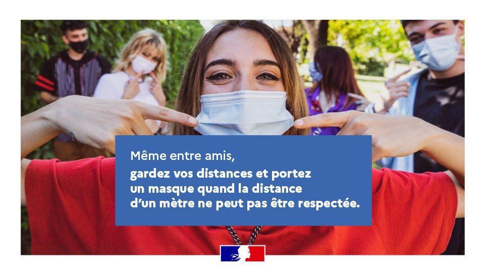 #Covid19 Le virus circule activement. Afin de protéger votre santé et celle de vos proches, respectez scrupuleusement les #gestesbarrieres et le port du masque.   #TousResponsables #RestezPrudents https://t.co/x2J9tphq4u