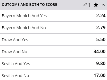 Bayern Munich's last 5 competitive results:  ✅ 4-1 vs Chelsea ✅ 8-2 vs Barcelona ✅ 3-0 vs Lyon ✅ 1-0 vs PSG ✅ 8-0 vs Schalke  They play Sevilla tonight in the UEFA Super Cup.   Bet here -> https://t.co/e59ylEhZp4  #SuperCup https://t.co/AItqJGvKzH