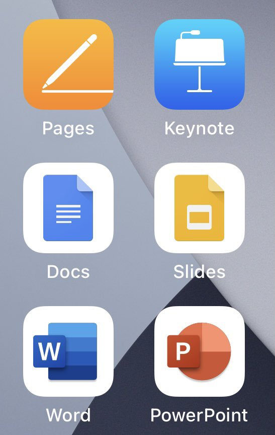 My OCD is kicking in. @apple. Please swap the icon colors for #pages and #keynote!  #iwork #ios #apple https://t.co/1IYv4qcBfl