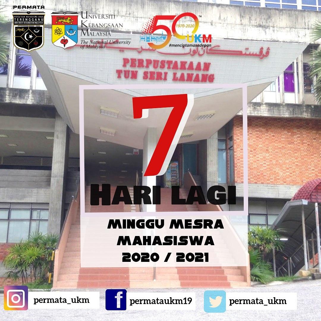 Minggu Mesra Mahasiswa Sesi 2020/2021  7 Hari lagi menjelang minggu mesra mahasiswa (MMM) Universiti Kebangsaan  Malaysia!  Tahniah kami ucapkan  kepada Mahasiswa/i baharu Sesi 2020/2021.   *Jumpa Anda Disana!*   Ikuti kami di :  Twitter  https://t.co/lpq1ZUQbuu https://t.co/LHQpAL9dS9