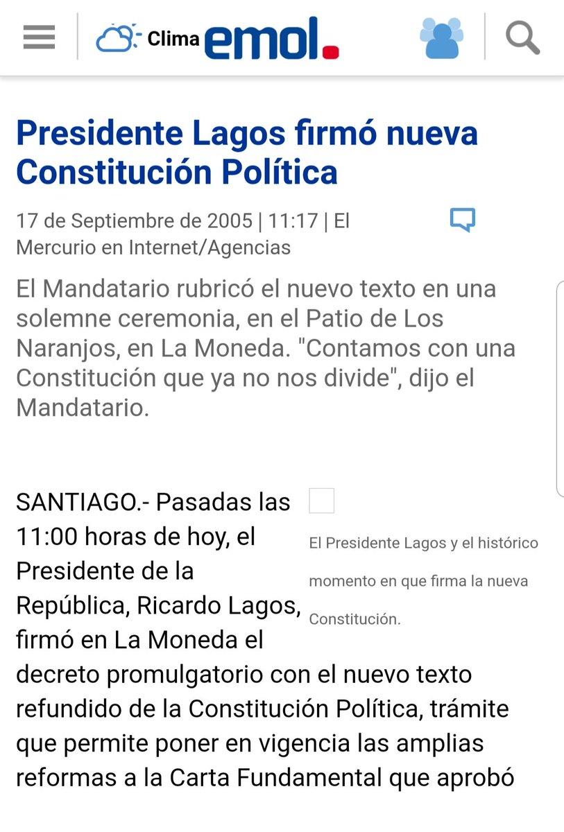 @RicardoLagos Qué hoja en blanco?? La que ya tienen escrita??? Cómo tan hipócrita, Ricardo Lagos, y no era que la que tenemos ya no era la Constitución de Pinochet??? https://t.co/b3WHD0oinj