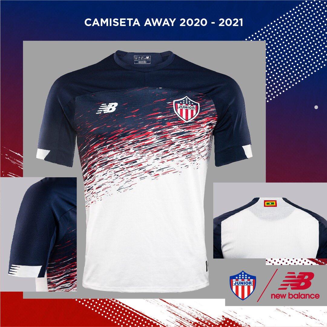 ¿Ya tienes la camiseta away 2020-2021? 🔴⚪🔵 ¡Evoluciona tu pasión!  Encuéntrala aquí: https://t.co/KUQER0wNtM  📍Bogotá: @SantafeMiMundo, @parquelacolina, @GranEstacionCC y @MultiplazaBta. 📍Barranquilla: C.C Buenavista 1 y Viva Barranquilla.  @JuniorClubSA @newbalancefootball https://t.co/G1y2543C2z