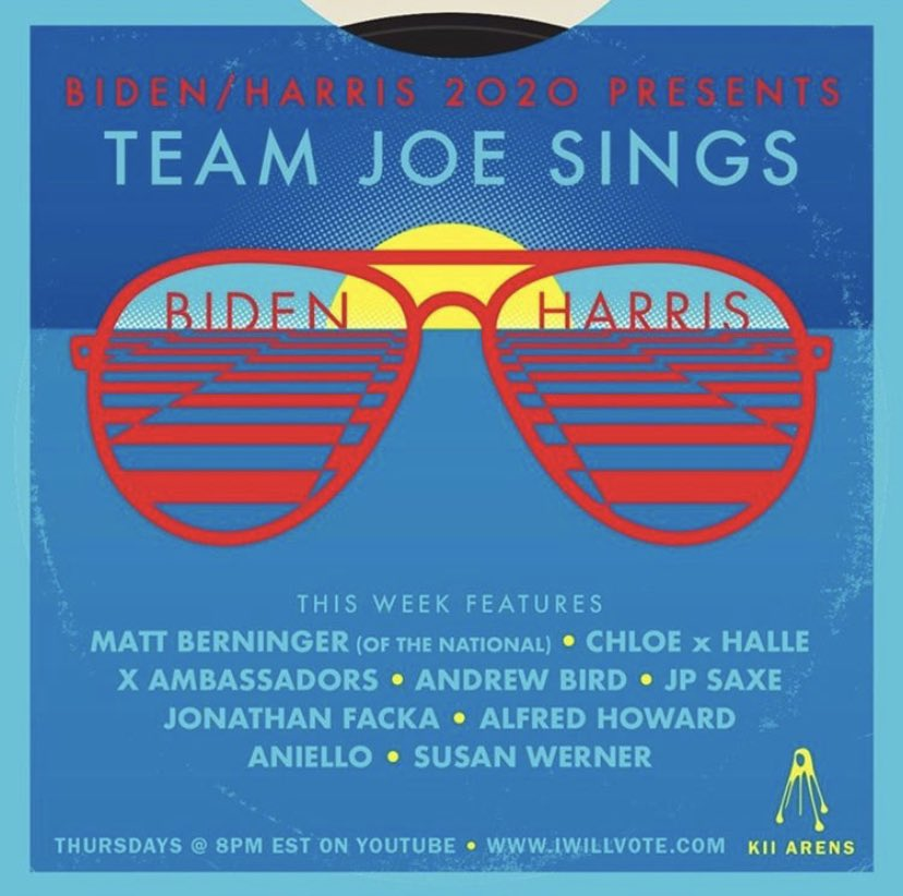 My amazing friend (obviously would never use either word to his face) @sternyoulearn just helped launch this series for the @JoeBiden @KamalaHarris campaign. New videos up every Thursday through the election! First one premiers tonight. #teamjoesings https://t.co/KoKRrYwbR4