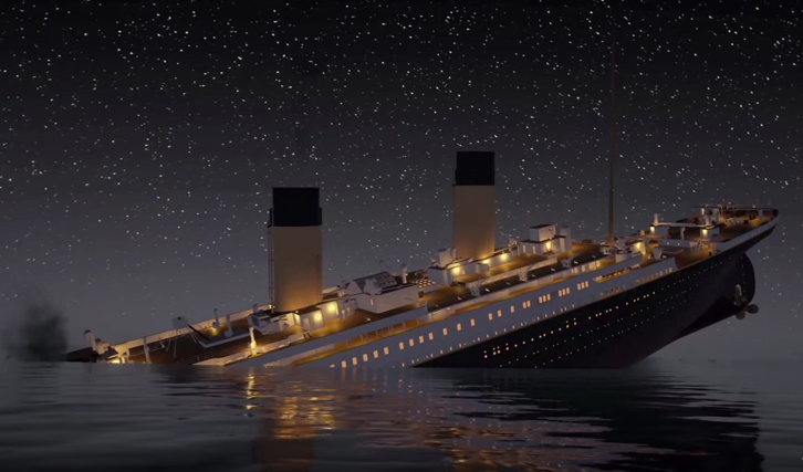 Watch the Titanic Sink in Real Time in a New 2-Hour, 40 Minute Animation   All similarities to the Trump administration are a coincidence :)  https://t.co/kJbQwTFLME https://t.co/lOYwGZy77Q