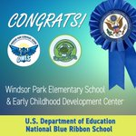 Image for the Tweet beginning: Congratulations to Windsor Park Elementary