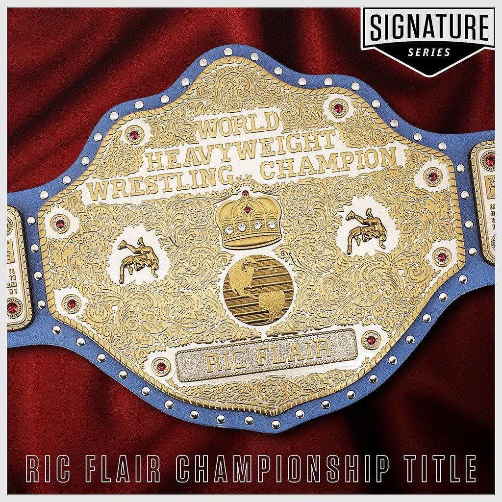 #WWEShop lets you be the man without stepping into the ring with The Nature Boy. Featuring 22  @Swarovski crystals, custom painted strap & the dates he won all 16 of his World Heavyweight Championships, get your  @RicFlairNatrBoy Signature Title today!  https://t.co/iuGUWZpWRv https://t.co/gOCWzTg7SU