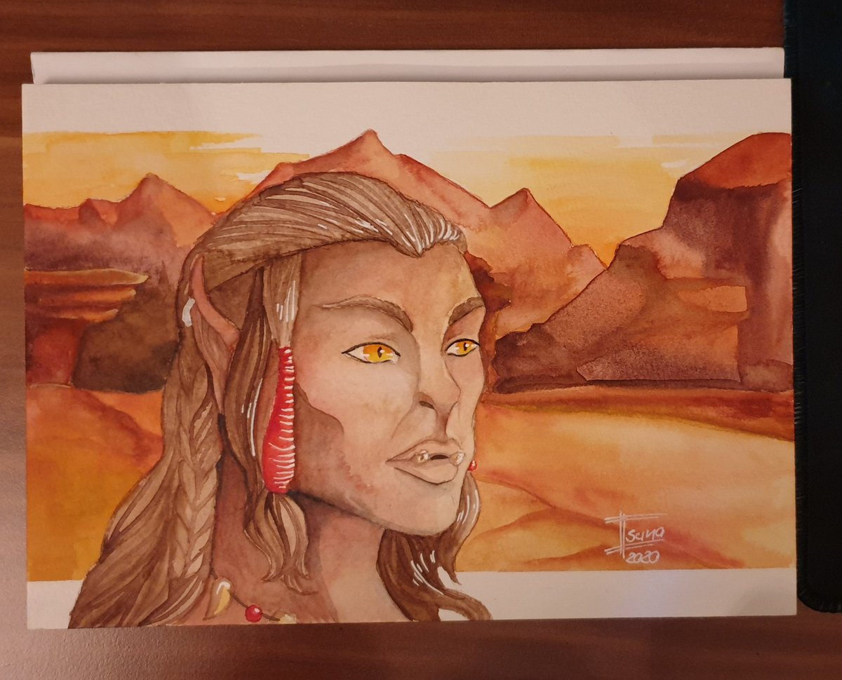 Day 22 of #sketchtember or #paintember  After a necessary break from the challenge, I managed to get back on track.  Character is (c) by his owner   #sketchtember2020 #traditionalart #traditionalartist #watercolor #fantasyart #worldofwarcraft #worldofwarcraftfanart #orc https://t.co/y06lBDflOU